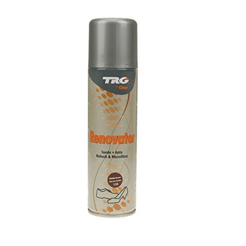 TRG Renovator Wildleder Nubuk Microfaser Pflegespray Imprägnierspray (mittelbraun)