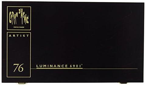 Caran d'ache Coffret Cadeau Crayons couleur LUMINANCE 6901 boite de 76 couleurs