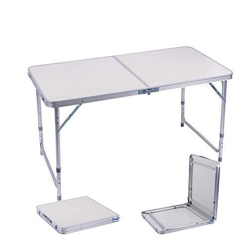 Sunflo Table Pliante 1,2 m Portable réglable en Alliage d'aluminium Intérieur extérieur Table de Salle à Manger Portable Poignée Pique-Nique Camping Barbecue