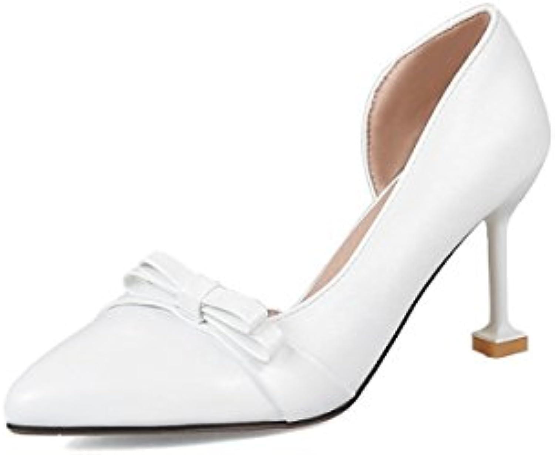 DIMAOL Damenschuhe Kunstleder Frühling Sommer Komfort Heels Stiletto Heel Schuhe für Casual Dress Mandel Rosaö