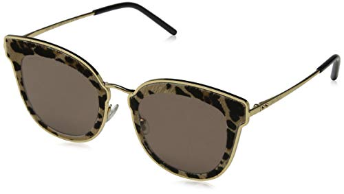 Jimmy Choo Damen NILE/S 2M XMG 63 Sonnenbrille, Gold (Gdblkanimali/Bw Black Brown),
