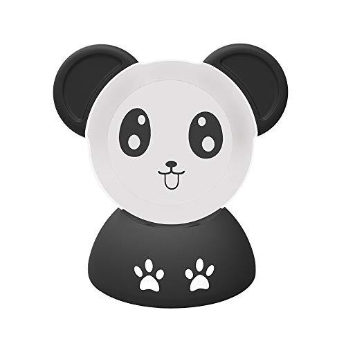 Skryo Panda Outlet Hanger Base Rutschfest Schreibtisch Stand Halter zum Echo Punkt 3. Generation // Panda Outlet Hanger Base Non-Slip Desk Stand Holder for Echo Dot 3rd Generation(Schwarz) Rutschfeste Non-slip