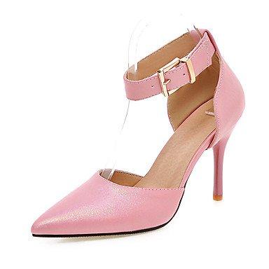 LvYuan Da donna Sandali Finta pelle Primavera Estate Autunno Fibbia A stiletto Nero Blu Rosa Tessuto almond 7,5 - 9,5 cm almond