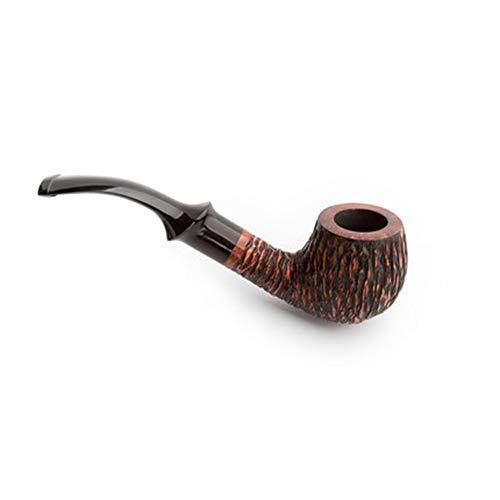 Pipe de Tabac Shi Nanmu Pipe Vintage importé Pipe de bruyère Hommes incurvés Bois Massif Pipe de Tabac à la Main