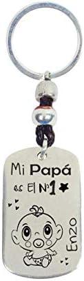 Llavero día del Padre personalizable fabricado en Zamak baño plata