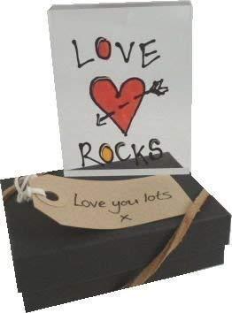 Liebe Rocks Memento/Token Block Freund und Freundin Schwarz und Rot