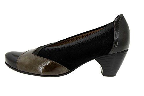Scarpe donna comfort pelle Piesanto 5408 scarpe casual comfort larghezza speciale Gris