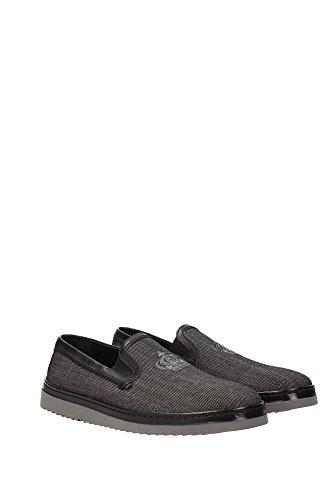 A50059AE0078B956 Dolce&Gabbana Pantoufle Homme Tissu Noir Noir