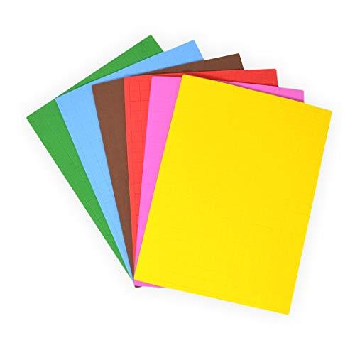 gestanzt auf 1x1 cm selbstklebend 1.596 Teile in 6 Farben sortiert ()