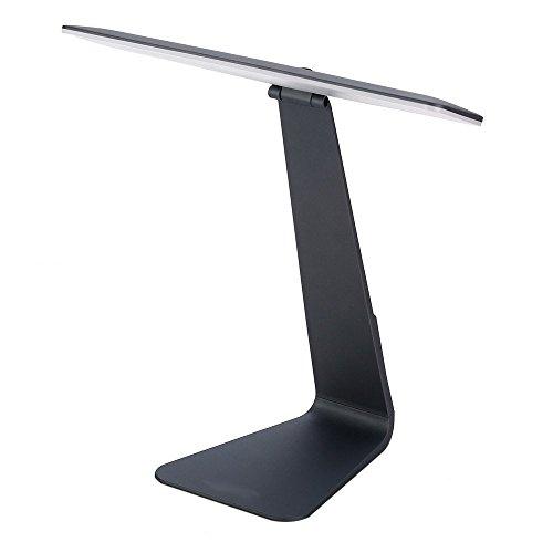 Eplze Mode Ultra-mince LED Bureau Lampe 210° Pliable Tête Dimmable Toucher-sensible Œil-protection En train de lire Lampe (Gris foncé)