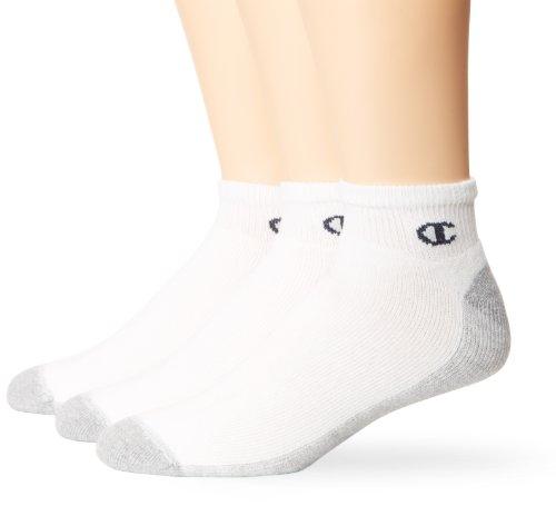 Champion Herren 3-pack Sock (Champion Men's 3-Pack Sport Quarter Socks, Sizes 6-12, White)