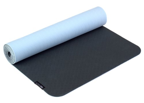 Yogistar Yogamatte Pro - sehr rutschfest - Anthrazit/Hellblau