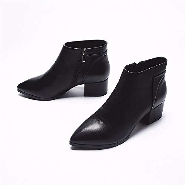 KOKQSX-Signore Gli Gli Gli Stivali di Cuoio Vintage Moda Nude Stivali Chelsea stivali. 39 nero | Elegante e solenne  f1090e