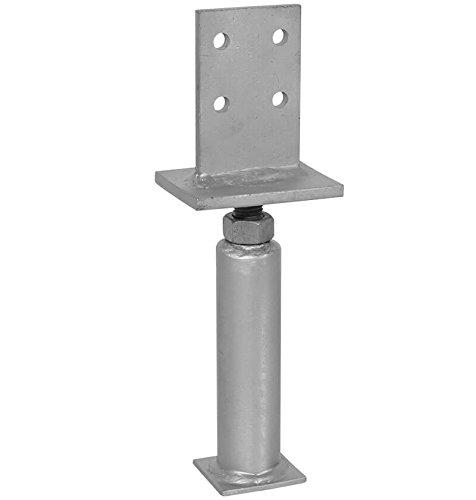 1 Stück profiBAUline Pfostenträger T-Form in Beton höhenverstellbar Grösse 400 Höhe
