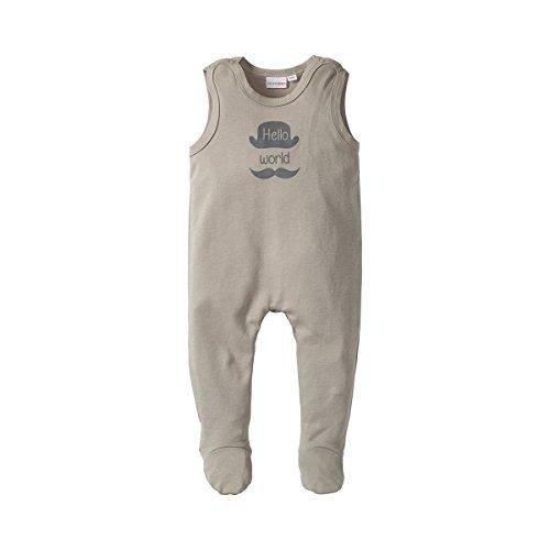 Bornino Baby Basics Strampler/Babykleidung/Einteiler für Junge und Mädchen/Baumwolle/grau