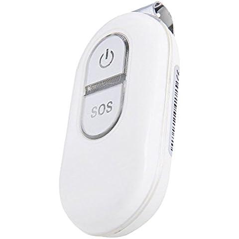 Mini portátil GPS Tracker personas posicionamiento libre Fee vida plataforma impermeable 240horas en modo de GPRS localizador, 0.12 pounds, color blanco