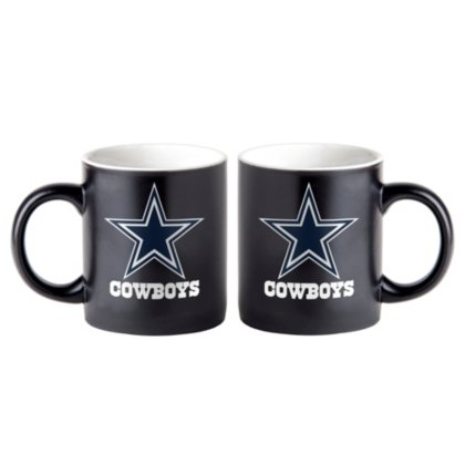 Dallas Cowboys NFL Tasse, Becher schwarz, matt 425ml (Dallas Cowboys Keramik)