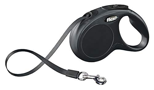 flexi Roll-Leine New Classic S Gurt 5 m schwarz für Hunde bis max. 15 kg - 2