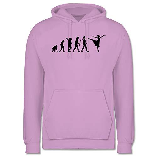 Shirtracer Evolution - Ballett Evolution Arabesque - S - Lavendel - JH001 - Herren Hoodie und Kapuzenpullover für Männer