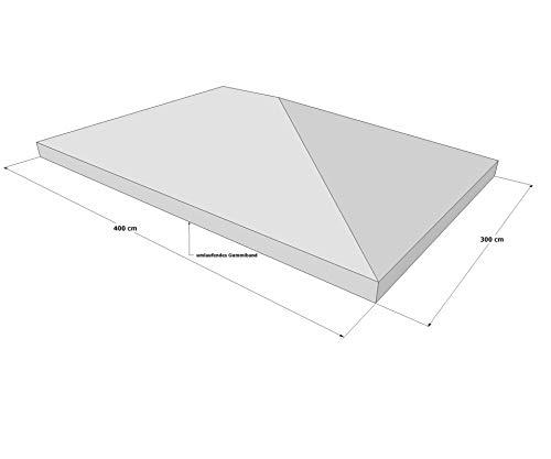 GRASEKAMP Qualität seit 1972 Schutzhaube 3 x 4 m für Pavillon Abdeckplane Plane Regenschutz
