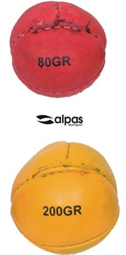 alpas Teamsport Schlagball - Wurfball aus Leder von alpas - 80g oder 200g NEUWARE (200g - Gelb)