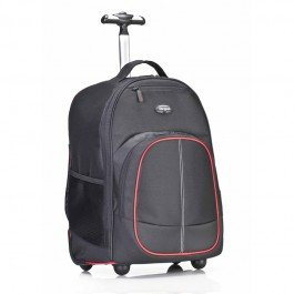 Targus 16-inch Compact Rolling TSB75001AP Laptop Backpack (Black/Red)