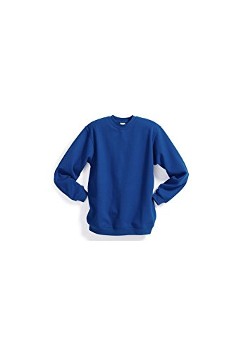 Magic custom - Sweat col rond uni bleu foncé