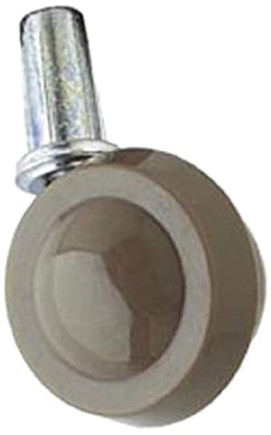 Bulk Hardware BH01546 Metal Wheel Castors Casters, Socket Swivel Grip Neck Stem Fix, 50mm (2 inch) - Pack of 2