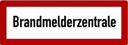 LEMAX Aufkleber BMZ Brandmelderzentrale 105x297mm
