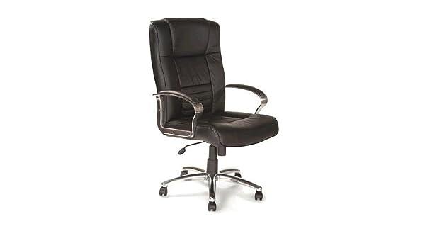 Chellgrove DP2054 High Back Leather Office Chair Chrome Base