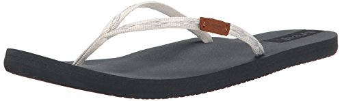Reef SLIM GINGER GREY/SILVER, Sandali infradito donna Multicolore (Grey/Silver)