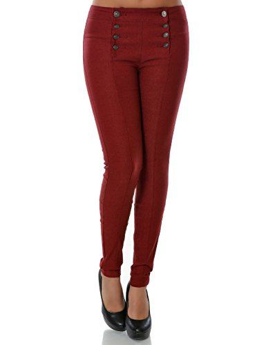 Damen Hose Skinny (Röhre weitere Farben) No 14220 Bordeaux