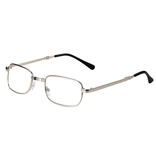 Aroncent Lesebrille Metallrahmen Lesehilfe Computer Sehhilfe Halbrandbrille Augenoptik [ Stärke +1.0-4.0 ] für Damen Herren