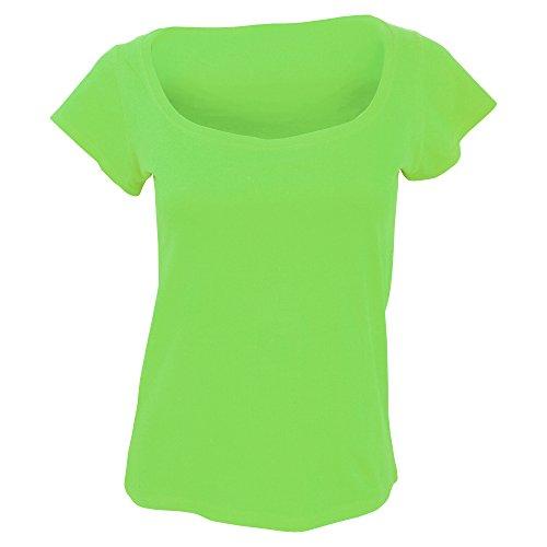 SOLS Melrose - T-shirt à manches courtes et encolure large - Femme Bleu Marine