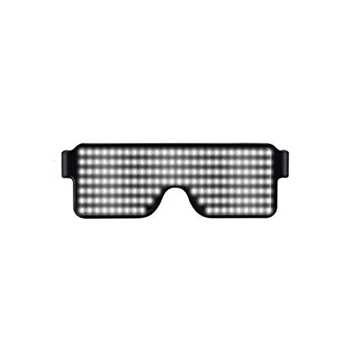 Henreal Brille mit LED-Licht, für Partys, Sonnenbrille, Weihnachten, Geburtstag, Dekoration weiß