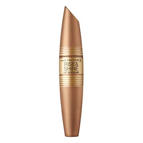 Max Factor Rise & Shine Mascara, die pflegende Wimperntusche verleiht Volumen und Schwung, Farbe Black, 13 g -