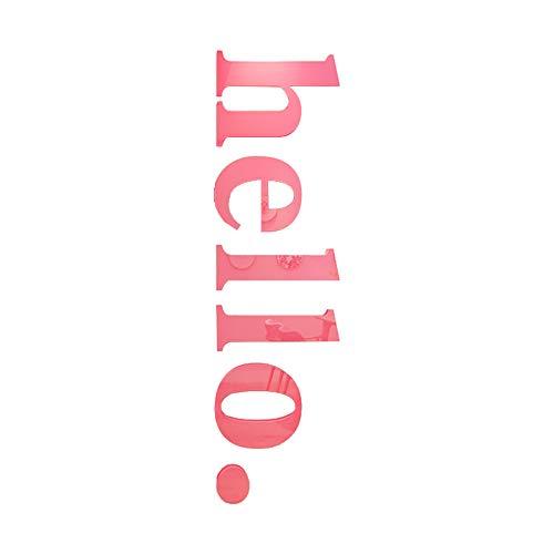 3D Hallo Design Spiegel-Aufkleber Acryl Spiegel Fliese für Ausgangswand-Dekoration Flexible Spiegel Blatt - Flexible Spiegel, Blätter