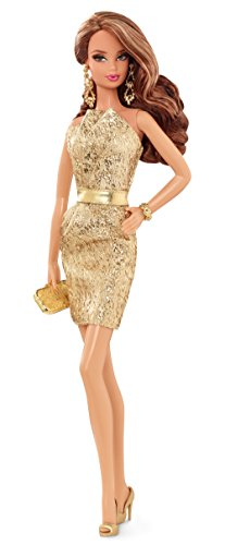 Mattel Barbie The Look: Gold Dress Doll