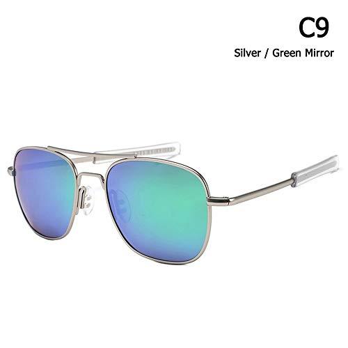 ZHOUYF Sonnenbrille Fahrerbrille Mode Polarisierte Ao Armee Militärischen Stil Luftfahrt Sonnenbrille Männer Fahren Markendesign Sonnenbrille Oculos De Sol, H