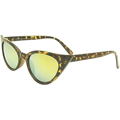 Tartaruga Rockabilly 50Donna Occhio di gatto occhiali da sole stile retrò con Sharp lenti Revo