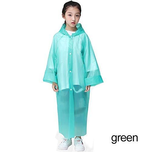 YUELANG New Waterproof Kids Portable Reusable Raincoats Children 6-12 Years Old Rain Ponchos Coat Rainwear Rainsuit Student Poncho