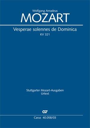 Vesperae solennes de Dominica KV 321, Klavierauszug