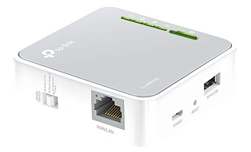 TP-Link TL-WR902AC AC750 WLAN Nano Router (433Mbit/s (5GHz) +300Mbit/s (2,4GHz) (tragbar, Accesspoint, TV Adapter, Repeater, Router, Client, Print, Media, FTP Server), weiß/ grau -