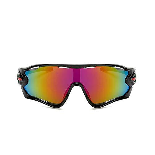 CZSM Polarisierte Sport-Sonnenbrille, Herren- und Damen-Radbrille mit 3 austauschbaren Gläsern, zum Skilaufen, Angeln, Segeln,NO3