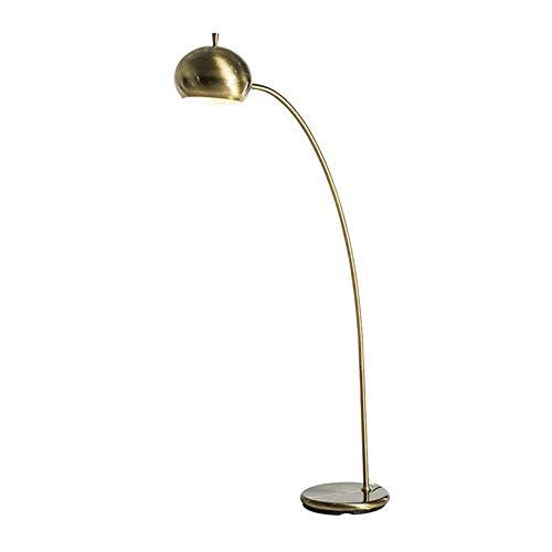 Floor Stand Lights, Nordic Vintage Brass Floor Floor Lamp Living Room Bedroom Simple Modern Metal Arc Reading Standing Light, Design Fixture Lighting -