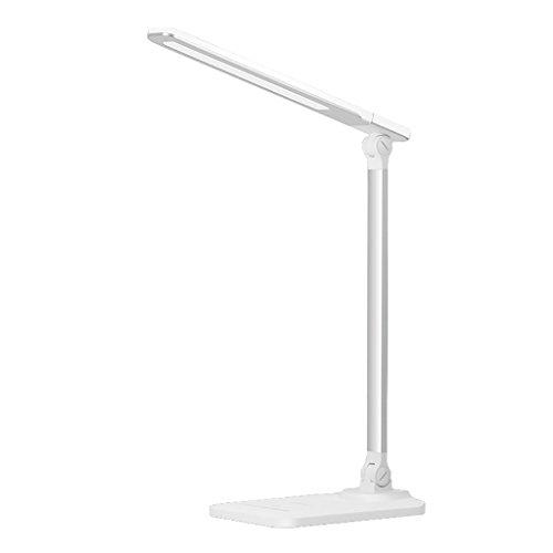 TTTD LED-Tischlampe Keine stroboskopischen Augenschutz Kinder-Nachttisch Schreibtischlampe USB-Anschluss Drei Farbtemperatur Helligkeit Einstellbar