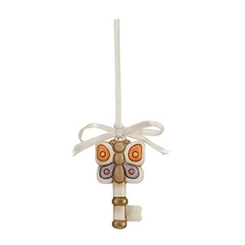 Thun® - chiave con farfalla multicolore da appendere - idee regalo - ceramica - i classici