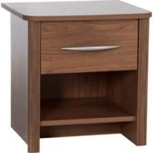 table de chevet en noyer avec 1 tiroir armoire de chevet 1. Black Bedroom Furniture Sets. Home Design Ideas