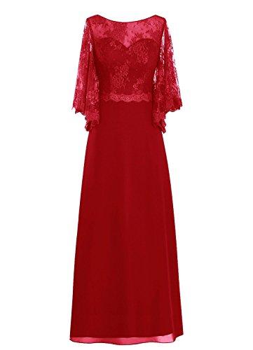 Fanciest -  Vestito  - linea ad a - Donna Rosso scuro
