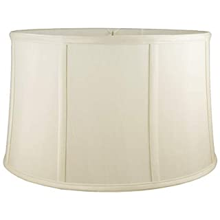 American Pride Lampshade Co. 05-78097012 Round Soft Shantung Tailored Lampshade, Eggshell